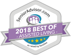 2018 Best of Senior Living Award from SeniorAdvisor.com awarded to The Dominican Village